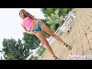 Petite brunette Talia Mint masturbates on Give Me Pink