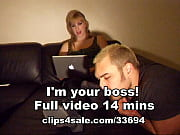 blonde female boss get her smelly feet worshipped