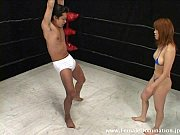 mistress kicks slave's balls nonstop while in the ring