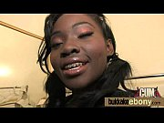 Sexy ebony babe goes crazy sucking and riding several white dicks 15