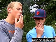 Free gay teen xxx Roma and Archi Outdoor Smoke Sex!