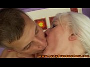 Amateur mature grandmother gives rimjob