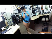 Latina police lady blows and fucks pawnshopowner for more cash