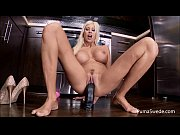 euro babe puma swede fucks herself in the kitchen!
