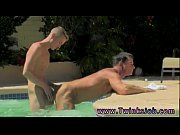 Hot and gay sexy young guys showing some hot dick Daddy Poolside