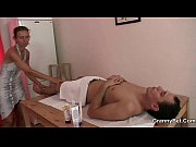 Granny masseuse getting her hairy hole pounded