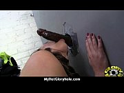 Horny ebony suck the juice from big white gloryhole 3
