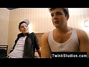 Gay ebony facial hair Brody Frost and Direly Strait stop at a motel