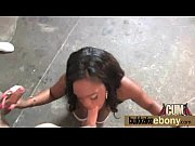 Sexy ebony babe goes crazy sucking and riding several white dicks 20