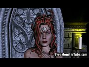 busty 3d cartoon medusa fingering her.
