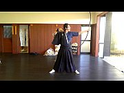 Solo play of KYUDO in Japan