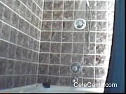 My hot girlfriend taking a shower hidden cam