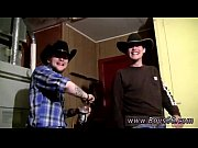 Gay boys twinks video Cowboys Ty &amp_ Lee Pissing Up the Garage!