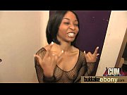 Hot ebony chick in interracial gangbang 21