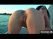 Hot College Girl Cleo Cums on a Boat!