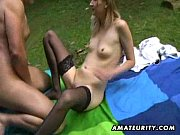 hot amateur teen sucks and fucks outdoor with cumshot