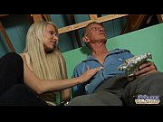 Oldje - Daring teen fucks the shy old guy