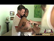 Naughty black wife gang banged by white friends 18