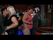 Brunette fatty gets screwed at the bar