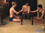 Super hot gay teens having a game party gay sex