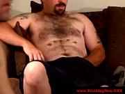 redneck hairy mature bear jerks off.