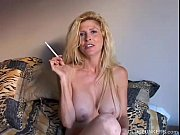 Picture Beautiful blonde MILF enjoys a smoke break