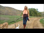 big titted milf enjoys hiking naked