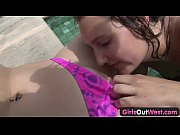 Girls Out West - Lesbian swimming pool or ...
