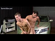 Sexy boys having anal sex on the car