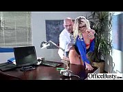 busty girl (julie cash) in office get hard.