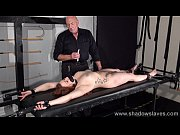 amateur slave louise in dungeon rack bondage and.
