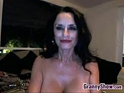 nasty granny masturbating at home with.