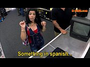 hot busty latina sells her old tv and.