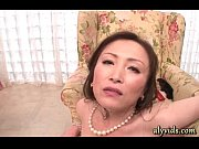 horny asian milf gives blowjob in.