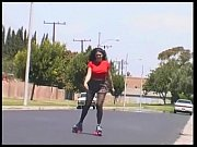 RollerSkating Latina thickness gets double banged