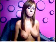 brunette with big tits on webcam.
