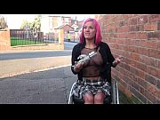 redhead wheelchair bound babe leah caprice flashing and.