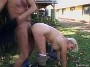 Picture Busty granny gets pounded in the back yard