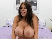 -daphne rosen takes a shot on her big boobs