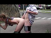 A teen superstar Alexis Crystal in PUBLIC street gangbang threesome