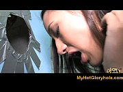 Ebony babe sucking white cock - Gloryhole Initiations 9