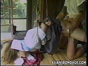 sexy little asian girl gets tied up and.