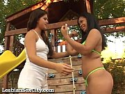 Two horny girls fucking i...