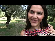 Big boobs teen Valentina Nappi fucked in the park for cash