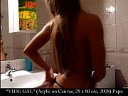 Total Art Slut Monica Van der Weyden Strips on Webcam