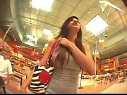 Busty skinny emo girl at the mall
