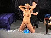 bizarre rough sextoy domination of blonde crystel lei.