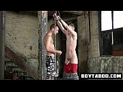 horny chained up hunk getting fucked.