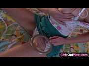 Girls Out West - Small titted amateur cutie toys both holes