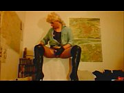 blond net tights boots masturbation